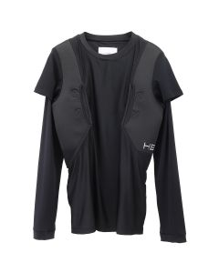 HELIOT EMIL LONG SLEEVE COMPRESSION SHIRT / BLACK