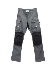 HELIOT EMIL DETAILED COTTON PANTS / DARK GREY-BLACK