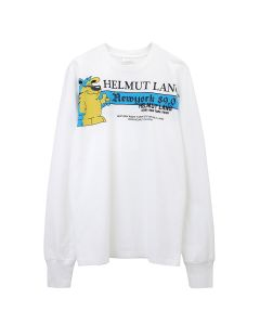 HELMUT LANG STANDARD LONG SLEEVE TEE / 001 : CHALK WHITE