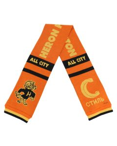 HERON PRESTON DRAGONS JACQUARD SOCCER SCARF / ORANGE YELLOW