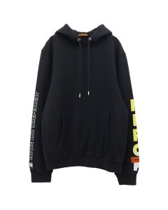 HERON PRESTON HOODIE SKULL / 0488 : OFF BLACK MULTICOLOR
