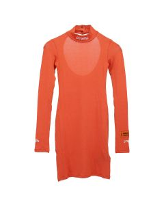 HERON PRESTON TURTLENECK DRESS LS CTNMB / 2101 : CORAL RED WHITE