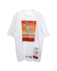 HERON PRESTON SS T-SHIRT REG KS HERON / 0120 : WHITE ORANGE