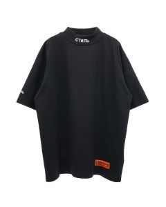 HERON PRESTON SS TURTLENECK CTNMB / 1001 : BLACK WHITE