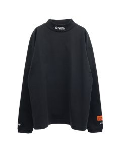 HERON PRESTON LS TURTLENECK CTNMB / 1001 : BLACK WHITE