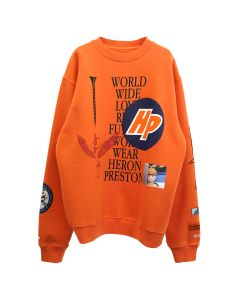 HERON PRESTON CREWNECK OS COLLAGE / 2210 : GOLDEN POPPY BLACK