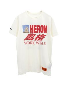 HERON PRESTON T-SHIRT REG HORSE HERON / 0188 : WHITE MULTICOLOR