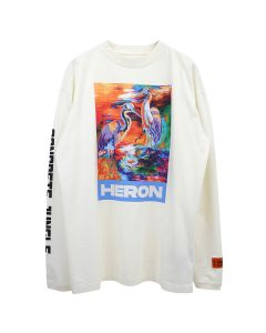 HERON PRESTON T-SHIRT LS HERON COLORS / 0188 : WHITE MULTICOLOR