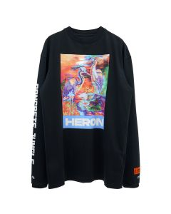 HERON PRESTON T-SHIRT LS HERON COLORS / 1088 : BLACK MULTICOLOR