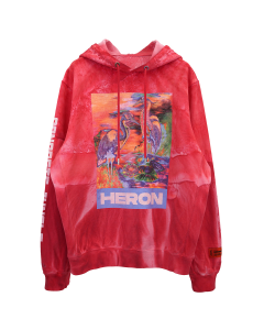 HERON PRESTON HOODIE RIBS HERON COLORS / 2888 : FUXIA MULTICOLOR