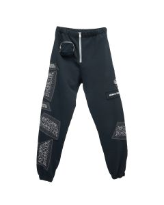 HERON PRESTON SWEATPANTS SAMI MIRO / 1001 : BLACK WHITE