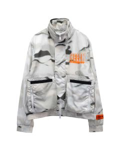 HERON PRESTON WINDBREAKER NYLON CAMO / 8819 : MULTI ORANGE