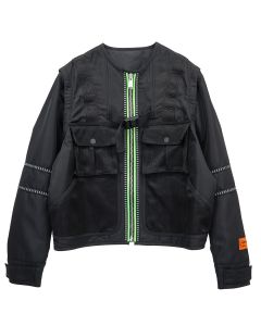 HERON PRESTON UTILITY JACKET NYLON / 1000 : BLACK NO COLOR