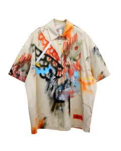 HERON PRESTON BASEBALL SHIRT ROBERT NAVA / 6188 : SAND MULTICOLOR