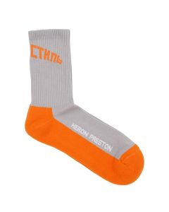 HERON PRESTON LONG SOCKS HANDMADE HERON / 0519 : ICE GREY ORANGE