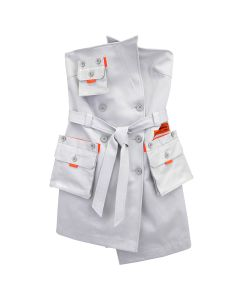 HERON PRESTON TRENCH DRESS ICE / 0500 : ICE GREY NO COLOR