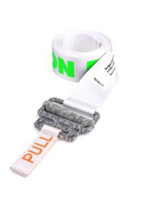 HERON PRESTON KK TAPE BELT COLOURED LOGO / 01C1 : WHITE CONCRETE
