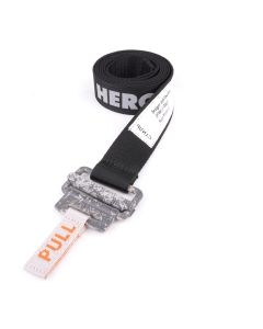 HERON PRESTON REFLECTIVE TAPE BELT 3CM / 10C1 : BLACK CONCRETE