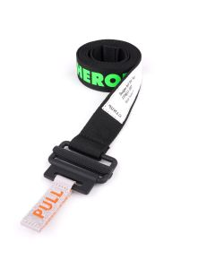 HERON PRESTON KK TAPE BELT COL. LOGO 3CM / 1010 : BLACK BLACK