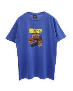 HOCKEY ST.KEV TEE / PIGMENT DYED NEON BLUE