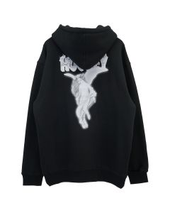 HOCKEY ANGEL HOODIE / BLACK