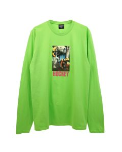 HOCKEY BAGHEAD 2 L/S TEE / FLASH GREEN