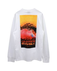 HOCKEY SILVER SURFER L/S TEE / WHITE