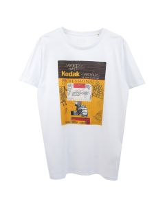 IDEA DAVIDE SORRENTI KODAK T-SHIRT / WHITE+DTG PRINT