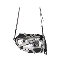INNERRAUM I02_CLUTCH/CROSS BODY BAG / SILVER-BLACK
