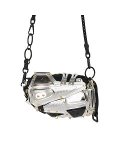 INNERRAUM CLUTCH/CROSS BODY BAG I02 / SILVER-GOLD+CHAIN