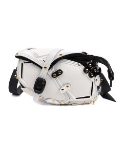 INNERRAUM CROSS BODY/FANNY PACK I12 / WHITE-GOLD