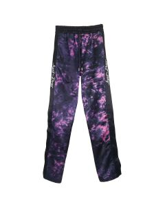 Just Don TIE DYE TEARAWAY PANT / BLACK-FUSCHIA