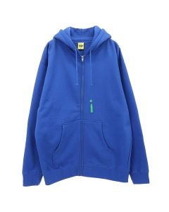 iggy RIOT ZIP UP HOODED SWEATSHIRT / BLUE