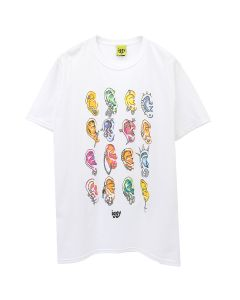 iggy PIERCED T-SHIRT / WHITE