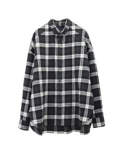 JUUN.J LONG SHIRT / BLACK-WHITE CHECK