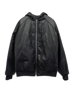 JUUN.J HOOD ZIP UP / BLACK