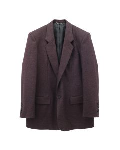 JOHN LAWRENCE SULLIVAN WOOL FLANNEL SINGLE JACKET / BORDEAUX