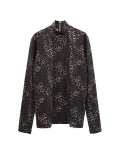 JOHN LAWRENCE SULLIVAN HI-NECK TOP / LEOPARD