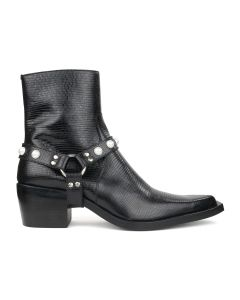 JOHN LAWRENCE SULLIVAN POINTED TOE BOOTS / LIZARD