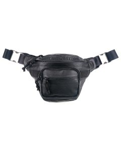 JOHN LAWRENCE SULLIVAN LEATHER WAIST BAG / BLACK