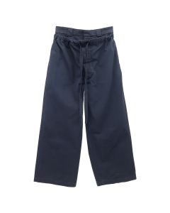 JW Anderson DRAWSTRING DOUBLE FRONT FLAP OAT TROUSERS / 888 : NAVY