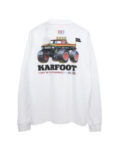 KAR / L'ART DE L'AUTOMOBILE x TAMIYA KARFOOT WHITE LONG SLEEVES / WHITE