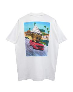 KAR / L'ART DE L'AUTOMOBILE LART ICECREAM WHITE SHORT SLEEVES
