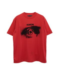 KWAIDAN EDITIONS VERTIGO PRINT SHORT SLEEVE T-SHIRT / RED VERTIGO PRINT