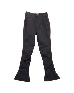KANGHYUK READYMADE AIRBAG PATCHED FLARE TROUSER 2 / BLACK