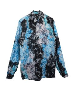 KANGHYUK AIRBAG CAMO LONG SLEEVE SHIRT / MULTI-BLUE