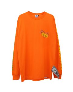 KOTA OKUDA LONG SLEEVE WITH ARM PUFF PRINT / ORANGE