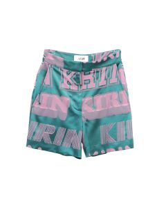 Kirin By Peggy Gou BIG TYPO JACQFLUID SHORTS / 5730 : FOREST GREEN PINK