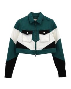 Kirin By Peggy Gou CC 02 CROPPED WORKER JACKET / 5700 : FOREST GREEN