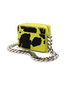KARA CHAIN CAMERA BAG / SLIME CALF